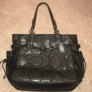 Grey/Black coach handbag